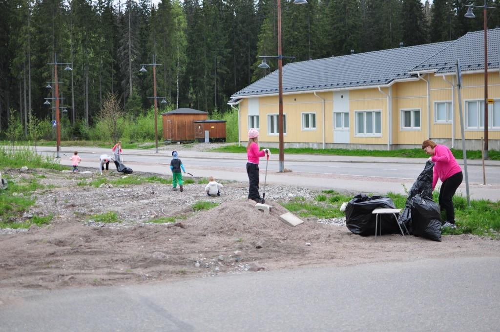 Siivous käynnissä Järvenpään alueella